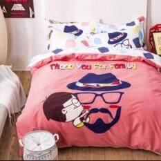ขาย Sweet Kip ชุดผ้าปูที่นอน 6 ฟุต พร้อมผ้านวม 5 ชิ้น ลายแฟมิลี่สีชมพู Sweet Kip ออนไลน์