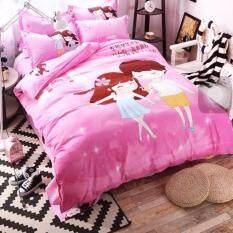 ขาย Sweet Kip ชุดผ้าปูที่นอน 6 ฟุต พร้อมผ้านวม 5 ชิ้น ลายคู่รักสีชมพู เป็นต้นฉบับ