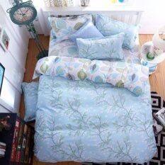 ส่วนลด Sweet Kip ชุดผ้าปูที่นอน 6 ฟุต พร้อมผ้านวม 5 ชิ้น ลายกราฟฟิกใบไม้สีฟ้า Sweet Kip ใน กรุงเทพมหานคร