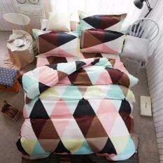 ส่วนลด Sweet Kip ชุดผ้าปูที่นอน 6 ฟุต พร้อมผ้านวม 5 ชิ้น ลายสามเหลี่ยมสีน้ำตาล