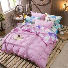 ส่วนลด Sweet Kip ชุดผ้าปูที่นอน 6 ฟุต พร้อมผ้านวม 5 ชิ้น ลายสามเหลี่ยมสีพาสเทล Sweet Kip กรุงเทพมหานคร