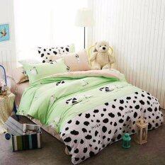 ขาย Sweet Kip ชุดผ้าปูที่นอน 6 ฟุต พร้อมผ้านวม 5 ชิ้น ลายวัวเขียวขาว ราคาถูกที่สุด