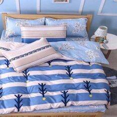 ราคา Sweet Kipชุดผ้าปูที่นอน6ฟุต พร้อมผ้านวม6ชิ้น ลายกราฟฟิกปะการังสีฟ้า ออนไลน์ Thailand