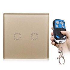 ทบทวน สวิทซ์ไฟแบบสัมผัส 2 ปุ่ม พร้อมรีโมทไร้สายเล็ก Remote Control Switch Wireless 220V