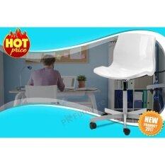 ขาย Swivel Chair เก้าอี้นั่งทำงาน เก้าอี้สำนักงาน เก้าอี้แบบมีล้อ เก้าอี้พลาสติก ปรับได้สูงสุดรุ่น Snille สีขาว ผู้ค้าส่ง