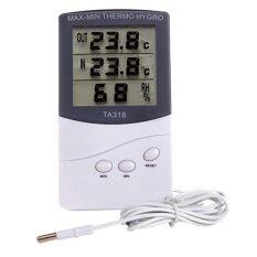 Ta318 Indoor Outdoor Digital Lcd Thermometer Hygrometer Humidity Meter Intl ใน จีน