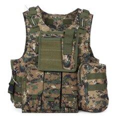Tactical Military Swat Field Battle Airsoft Molle Combat Assault Plate Carrier Vest - Intl.