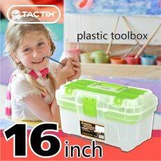 ซื้อ Tactix 320110 Plastic Tool Box กล่องเครื่องมือช่าง Pvc 16 นิ้ว คละสี