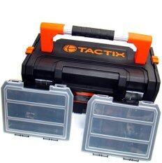 ซื้อ Tactix 320348 กล่องเครื่องมือ กล่องอะไหล่ 21 บิ้วอิน 2 ชุด ถูก