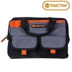 ขาย ซื้อ Tactix 323145 Gate Mouth Tool Bag กระเป๋าช่าง กระเป๋าเครื่องมือช่าง กระเป๋าเครื่องมือ กระเป๋าใส่เครื่องมือช่าง 12 สีดำ สีส้ม ขนาด 30 5 X 25 4 X 28Cm 12 X 10 X 10 1 2 In