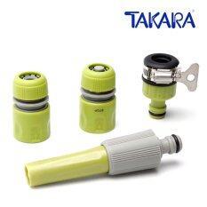 ราคา Takara หัวฉีดน้ำ Dgt2001 รุ่นมาตรฐานปรับ พร้อมชุดสวมเร็ว