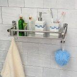 ขาย Tapcet 50Cm Wall Mount Stainless Steel Single Tier Storage Basket Bathroom Soap Dish Shampoo Rack Bathroom Intl ถูก ใน จีน