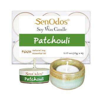 Tealight SetPatchouli Soy Candles + Candle Holder Set