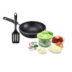 ขาย ซื้อ Tefal Mini Cooking Set 5 Sec Manual Chopper 500Ml Super Cook Wok16Cm Tefal Spatula