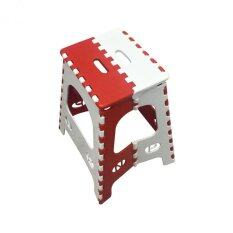 Telecorsa เก้าอี้ พับได้ พกพา เก้าอี้พลาสติก Pchair009-201-SHR1  (สีขาว/แดง)