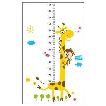 TGHome Wall Sticker วัดส่วนสูง การ์ตูนยีราฟ