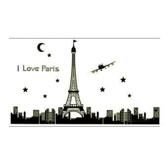 TGHome Wall Sticker I Love Paris เรืองแสง