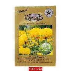 ขาย ทองเฉลิม เมล็ดพันธุ์ ดาวเรืองตัดดอก ทองเฉลิมเยลโล่ Tly 4805 F1 จำนวน 1 ซอง 100 เมล็ด Thong Chalerm Yellow Marigold Tly 4805 F1 100 Seeds แถมฟรี 1 ซอง Ziplock กรุงเทพมหานคร