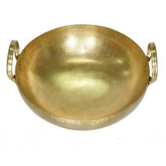 Thai Bronze กะทะทองเหลือง สำหรับประกอบอาหาร คาว และ หวาน ขนาด 39 ซม.