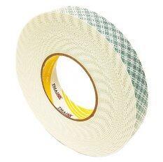 ราคา Thai Kk เทปโฟมกาวสองหน้า เทปกาวขนาด 24 มม X 10 เมตร รุ่น Kk Yellow สีขาว ขายยกลัง 60 ม้วน ไทย