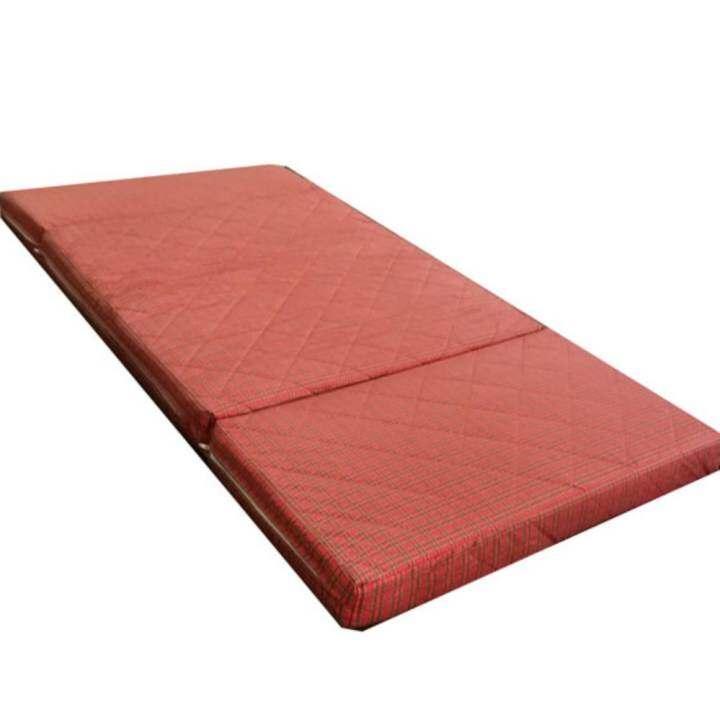 take-me ทีนอนเตียงเดี่ยวเอกประสงค์ ใช้ปูเป็นที่นอนใส่เตียง3ฟุตได้ ผ้าหุ้มที่นอน ล้าง ทำความสะอาดได้  ผ้าหุ้มที่นอน เดินลายด้วยใย2ชั้น ทั้งผืน ฟองน้ำหนาแน่น และแข็งแรง ทนทานต่อการใช้งาน  ความหนา ของฟูก 25ซมx2=50ซมถอดซักได้ทั้งผืน