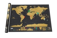 ทบทวน ที่สุด Thinkmax Scratch Off World Map Deluxe Edition Poster Personalized Travel Vacation Intl