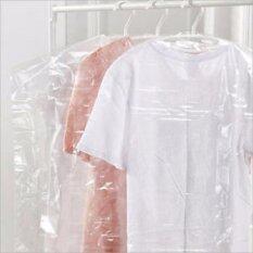 ขาย ถุงตัดไหล่คลุมผ้ามีขยายข้างใส Pp สำหรับบร้านซักรีด แบบใส ขนาด 24X36 นิ้ว ตรา ปันสุขพลาสติก Punsook