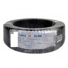 สายไฟมิเนียม สีดำ Thw-A เต็มเบอร์ เบอร์ 16 100เมตร.