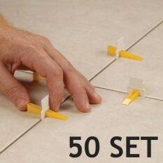 ตัวปรับระดับกระเบื้อง Tile Leveling การปูกระเบื้องจะเป็นเรื่องง่าย 50 ชุด  .