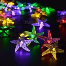 ส่วนลด Tj Solar Solar String Lights ไฟประดับ 8 โหมด Led 30 หลอด ยาว 6 5 เมตร ปลาดาว คละสี