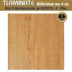 Tlaminate พื้นไม้ลามิเนต ลามิเนตลายไม้ พื้นผิว 3d มีร่องตามลายไม้ หนา 8 มิล 1 แพ๊ค 2.44 ตรม (029075-2 )(สีบีช).