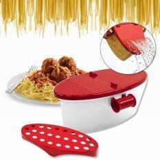 โปรโมชั่น Tml กล่องต้มเส้นพาสต้าในไมโครเวฟ Microwave Pasta Boat Spaghetti Bowl รุ่น Ptb210 Ao สีขาวแดง ถูก