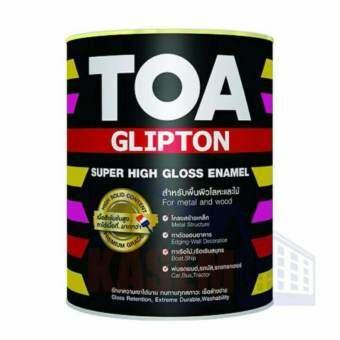 TOA Glipton สีน้ำมันเคลือบเงาเหล็กและไม้ G800 สีดำ-