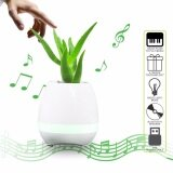 ราคา Tokqi K3 Egg Shell Smart Bluetooth Music Flower Pot Speaker With Light Touch Plant For Home Office Decoration White เป็นต้นฉบับ