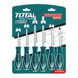 ราคา Total ไขควงชุด ปากแบน ปากแฉก 6 ตัวชุด รุ่น Tht250606 Screwdriver Set Total กรุงเทพมหานคร