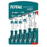 ราคา Total ไขควงชุด ปากแบน ปากแฉก 8 ตัวชุด รุ่น Tht250608 Screwdriver Set ราคาถูกที่สุด