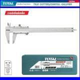 Total Hand Tool Heavy Duty Vernier Model Tmt 311501 ขนาด 6 นิ้ว โททัล เวอร์เนี่ยเหล็ก ทำจากแสตนเลสแข็ง ใช้วัดงานละเอียด วัดแบบเชิงเส้น ล๊อคค่าด้วยสกรูหัวเหล็ก สำหรับงานหนัก ใช้งานง่าย ปลอดภัย มาตรฐานญี่ปุ่น 1 แพ็ค 1 ชิ้น 1 ชุด ใหม่ล่าสุด