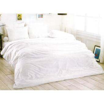 Toto ชุดเครื่องนอน ชุดผ้าปู + ผ้านวม สีพื้น – สี White-