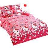 ขาย Toto ชุดผ้าปูที่นอน ผ้านวม โตโต้ ลายการ์ตูน คิตตี้ รุ่น Kt34 ราคาถูกที่สุด