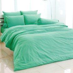 โปรโมชั่น Toto ชุดผ้าปูที่นอน ผ้านวม สีพื้น สีเทอร์คอย Turquoise ใน ไทย