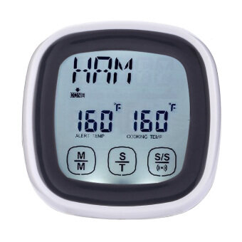 Touchscreen Digital Meat Cooking Thermometer and Timer Kitchen Tool - intl