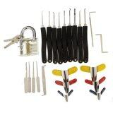 ซื้อ Transparent Slotted Practice Padlock 9 Piece Lock Picks Padlock Shims Single Hook Lock Pick ใหม่