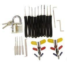 ราคา Transparent Slotted Practice Padlock 9 Piece Lock Picks Padlock Shims Single Hook Lock Pick ถูก