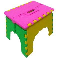 ราคา Triple3Shop เก้าอี้พับ 3 สี หน้าชมพู ราคาถูกที่สุด