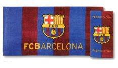 Tulip ชุดผ้าขนหนู เช็ดตัว เช็ดหัว ลายฟุตบอล บาร์เซโลนา Barcelona สองชิ้น ถูก