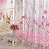 ซื้อ ทิวลิปบานประตูม่านผ้าโปร่งผ้าป่านพิมพ์ล้วนประดับตกแต่ง 200ซม X 100ซม ใน จีน