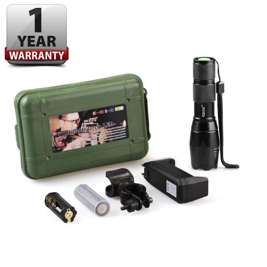 ราคา Turbo Light Ultrafire 2200Lm Cree Xml T6 Led Zoomable Flashlight Torch 5 Modes เทอร์โบ ไลท์ ไฟฉาย แรงสูง ซูมได้ แถมอุปกรณ์ครบชุด ใหม่