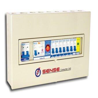 ตู้ควบคุมไฟฟ้า (ตู้คอนซูมเมอร์ยูนิต) ขนาด 6 ช่อง พร้อม เครื่องตัดไฟรั่ว (RCD) และอุปกรณ์ป้องกันฟ้าผ่า (Surge Protective Device) ในตัว เซนส์ รุ่น S6N1 ตู้