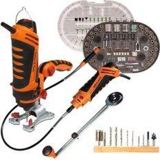 Twist A Saw Deluxe Kitเลื่อยระบบหมุน สามารถตัด ขัด เจาะ เพื่อให้ได้ชิ้นงานเนื้องานละเอียด เป็นเครื่องมืออเนกประสงค์ที่ควรมีไว้ติดบ้าน By Buyzone.