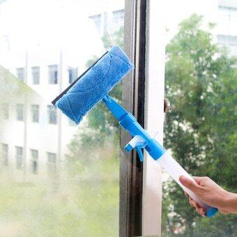Two แปรงเช็ดทำความสะอาดเอนกประสงค์ไมโครไฟเบอร์ 3in 1 - สีฟ้า